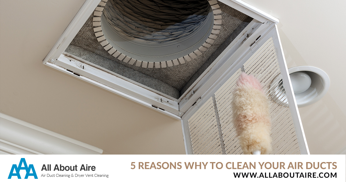 5 Reasons You Need to be Cleaning Your Air Ducts