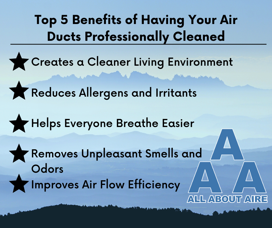 Top 5 Benefits of Having Your Air Ducts Professionally Cleaned
